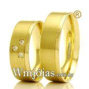 Aliancas em ouro 18k WM2357