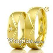 Aliancas em ouro 18k WM2360