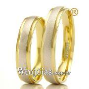 Alianças em ouro branco e amarelo 18k WM2370