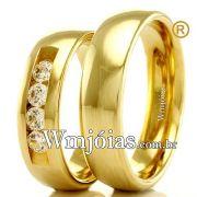 Alianças em ouro casamento e noivado WM2317