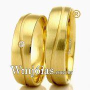 Alianças em ouro casamento WM2302