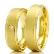 Alianças em ouro para casamento e noivado WM2337