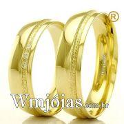 Aliancas em ouro para casamento. WM2291