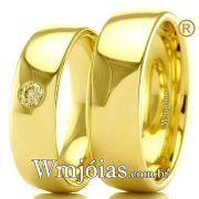 Alianças em ouro para casamento WM2301