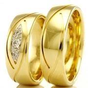 Alianças em ouro para casamento WM2320