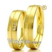 Aliancas em ouro para casamento WM2331