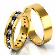 Alianças Evangélicas com Diamantes- WM10191