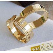 Alianças Evangélicas  para casamento ouro amarelo 18k  Peso 11 gramas  Largura 6mm- WM10088