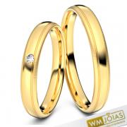 Alianças Gaby ouro amarelo 3mm WM10339