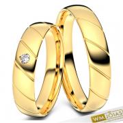 Alianças Jenifer ouro 18kilates 4,5mm WM10341