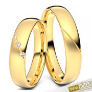 Alianças Louise casamento ouro amarelo 3,5mm WM10342