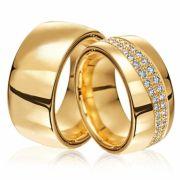 Alianças Luxuosas de Casamento 16 a 18 gramas e 7mm WM3094