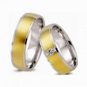 Aliancas noivado e casamento ouro 18k e prata WM2579
