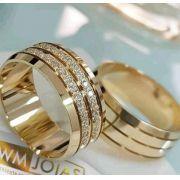 Alianças  noivado ou casamento  Peso 18 gramas o par Largura 8mm- WM10083