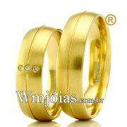 Alianças para casamento em ouro WM2349