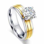 Anel de noivado e prata ou ouro WM3207