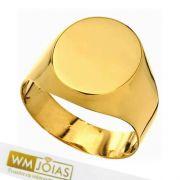 Anel Sinete Oval Ouro  Amarelo  WM10165