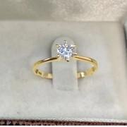 Anel solitário em ouro diamante WM10295