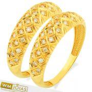 Aparador para aliança  ouro amarelo 18k 750 - WM10148