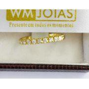 Aparador de  Aliança em ouro amarelo 18k 750  Peso 2 Gramas - WM10078