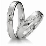 Par de Alianças de Namoro ou Compromisso em Prata 950