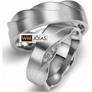 Par de alianças de prata WM2473