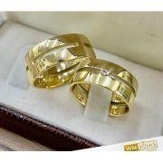 Par de alianças ouro amarelo 18k  Peso 18 gramas  Largura 8,3mm- WM10218