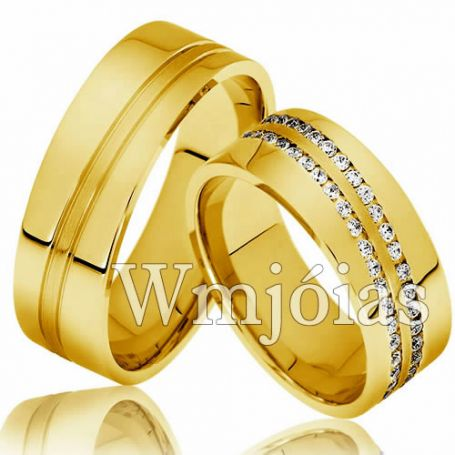 Aliança casamento WM2990