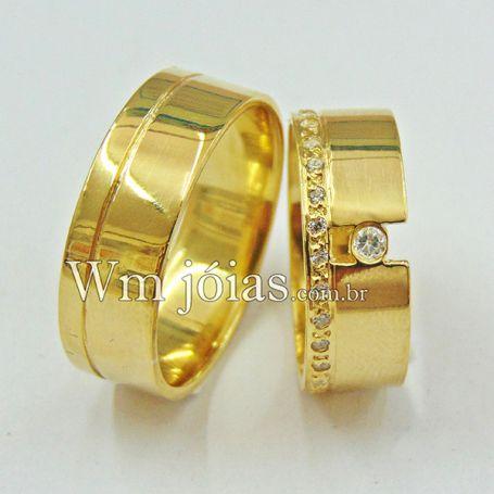 Aliança casamento WM3045