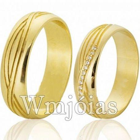 Aliança com simbolo do infinito para casamento 5,8mm 8 a10G WM3093