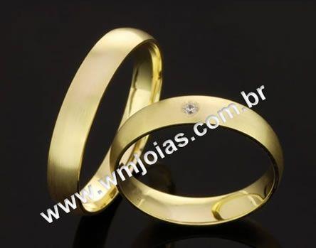 Alianca de casamento barata WM2057