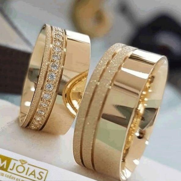 Aliança de casamento e Noivado  Peso 16 gramas o par Largura 8mm- WM10004