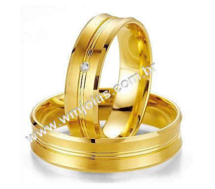 Aliança de casamento e noivado WM2012