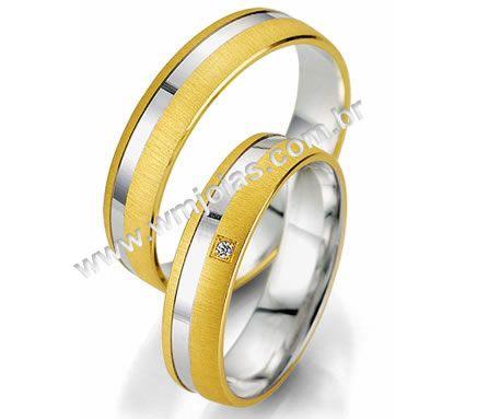 Alianca de casamento e noivado WM2017