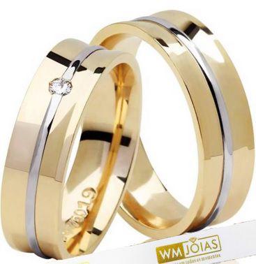 Alianca de casamento e noivado WM2046