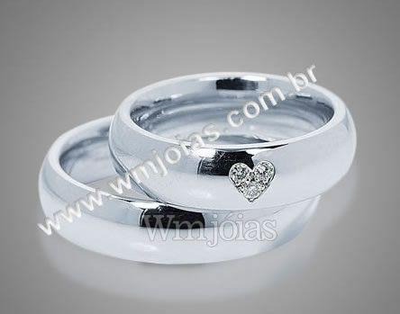 Aliança de casamento e noivado WM2093
