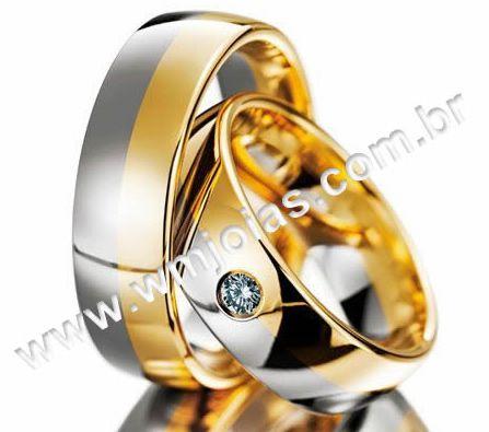 Aliança de casamento e noivado WM2188