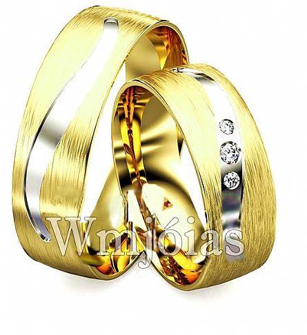 Aliança de casamento em ouro WM2906