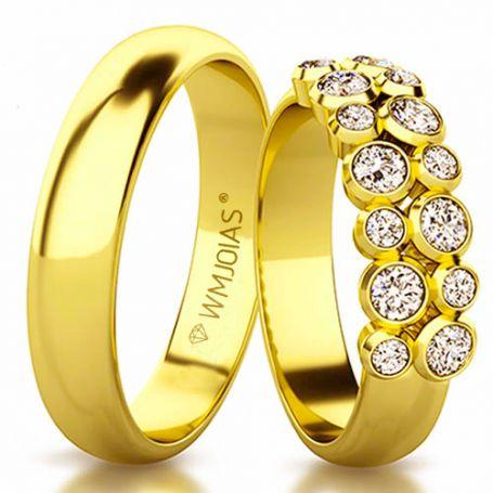 Aliança de casamento moderna WM3146
