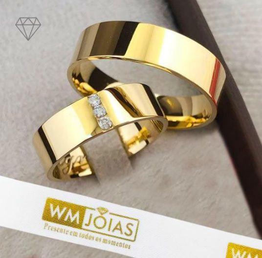 Aliança  de casamento ouro amarelo 18k  Peso 12 gramas  Largura 6mm- WM10105