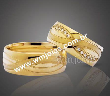 Aliança de casamento WM2187