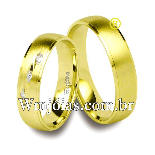 Aliança de casamento WM2519