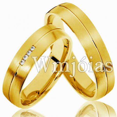 Aliança de casamento WM3009
