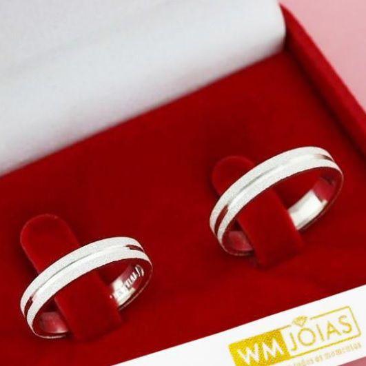 Aliança de compromisso em prata 950   Peso 8 gramas Largura 4mm - WM10091