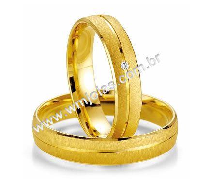 Alianca de noivado e casamento 18k 750 WM2008