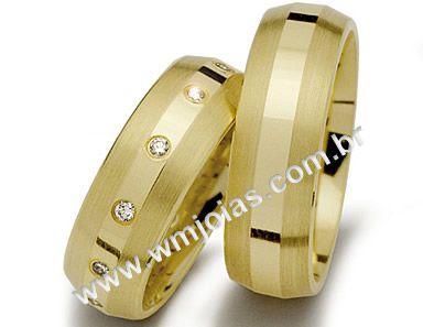 Alianca de noivado e casamento 18k WM1482