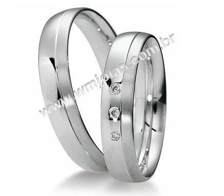 Alianca de noivado e casamento 18k WM1988