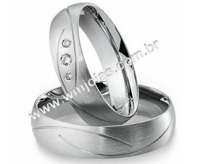 Alianca de noivado e casamento 18k WM1993