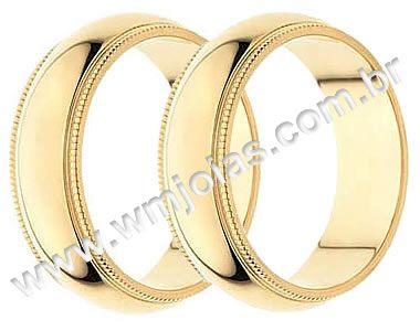 Aliança de noivado e casamento WM1354