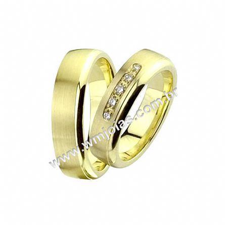 Aliança de noivado e casamento WM1365